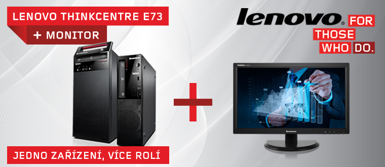 nepropásněte! Lenovo ThinkCentre E73 + monitor!