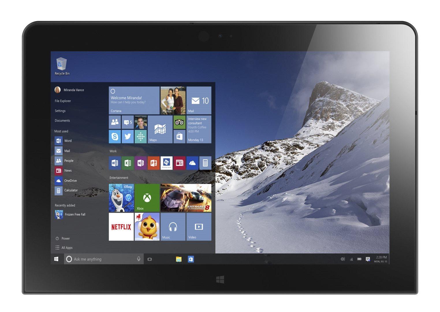 """ThinkPad 10/10.1"""" WUXGA IPS/X7-Z8700/64GB/4GB/LTE/Win 10 Pro"""